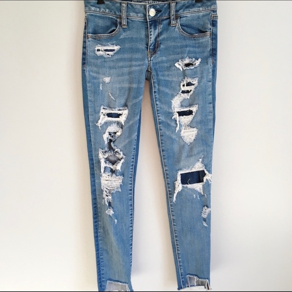 American Eagle Outfitters Denim - American Eagle Super Low Stretch Distress Jegging